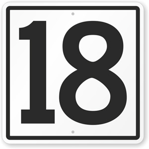Number 18 - Eighteen in numerology